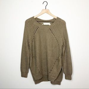 New  Lost In Lunar Tan Over Sized Sweater
